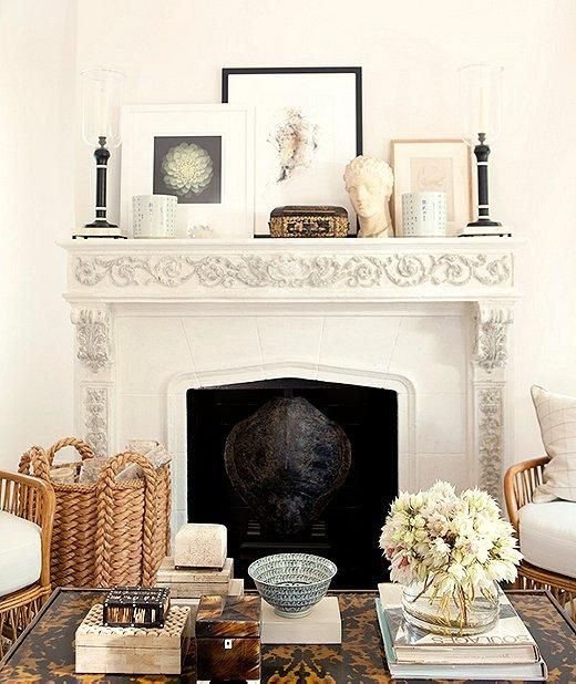 pretty fireplace + mantle