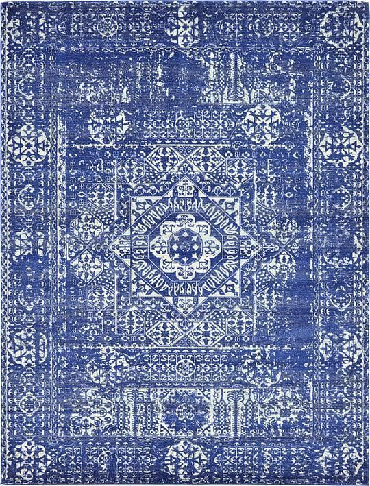 Navy Blue Heritage Area Rug