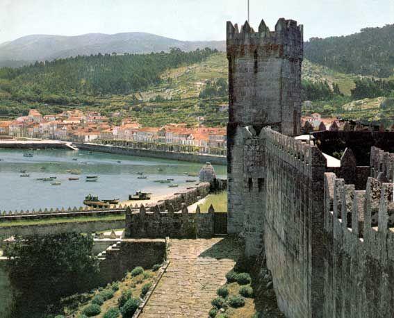 Baiona, Galicia, España. Castillo de Monterreal