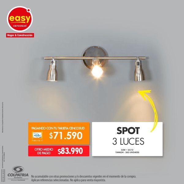 Spot 3 Luces • 50W • GU10 1044634
