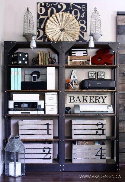 Make these DIY Restoration Hardware knockoff industrial shelves eclecticallyvintage.com