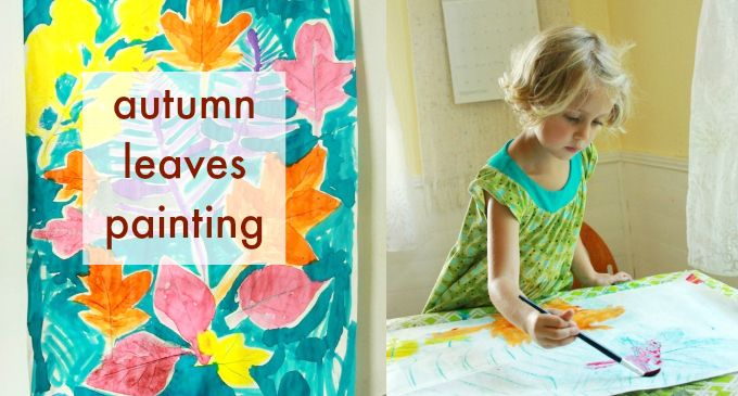 Autumn Leaves Painting with Kids
