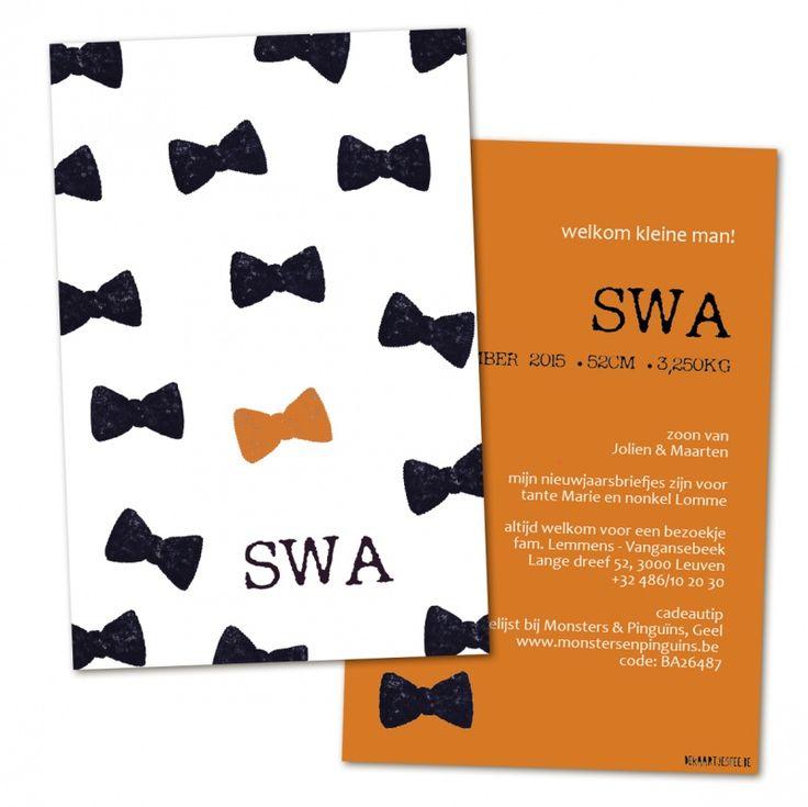 Swa | Geboortekaartjes | De Kaartjesfee geboortekaartjes