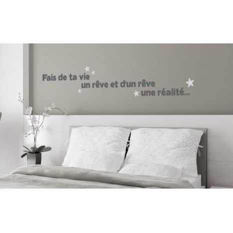Stickers citation wallsweethome.fr. Citation du Petit Prince d'Antoine de Saint Exupéry. Citation murale du Petit Prince. Citation rêve