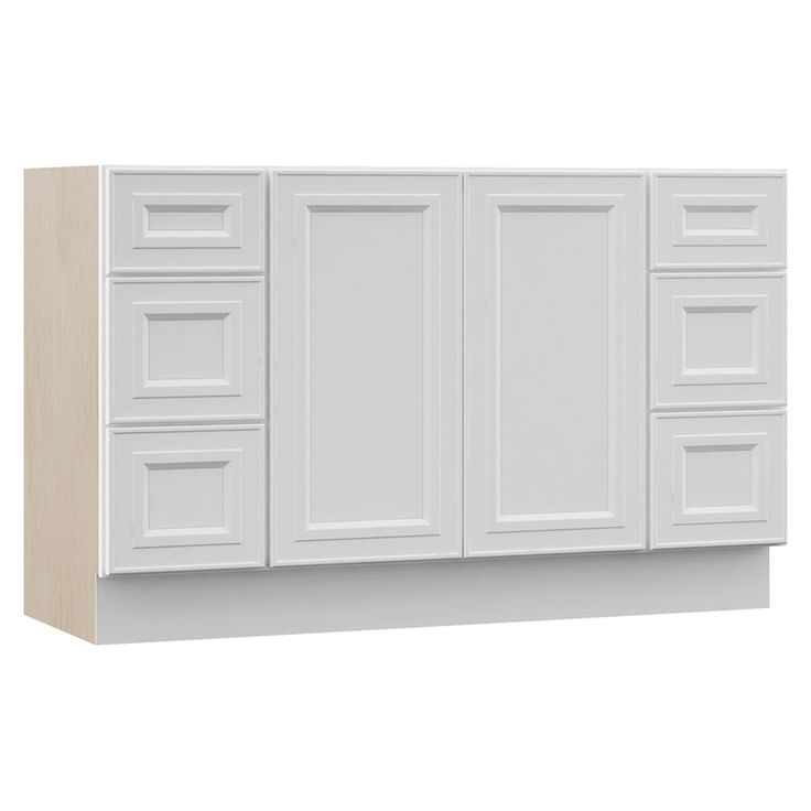 Villa Bath By Rsi White Bathroom Vanity Common 48 In X