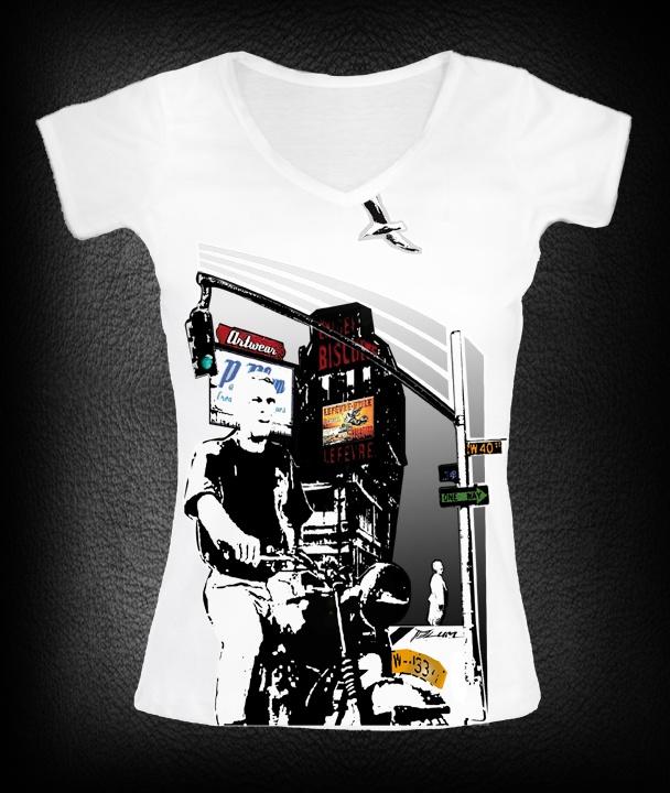 t-shirt femme Mc Queen   P-plum