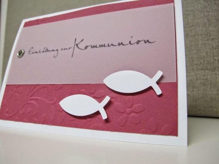 .: Einladung zur Kommunion / Konfirmation