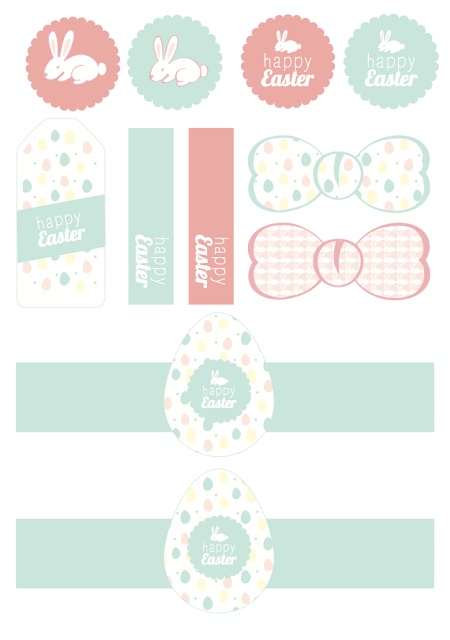 FREE printable bunny and Easter tags by Hello June - Printables Pâques