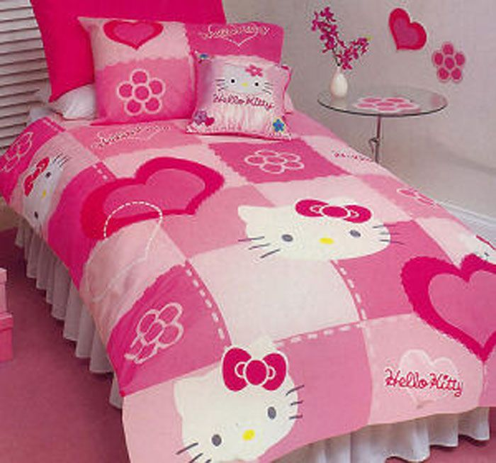 Hello Kitty Bed Set Luv This Part 75