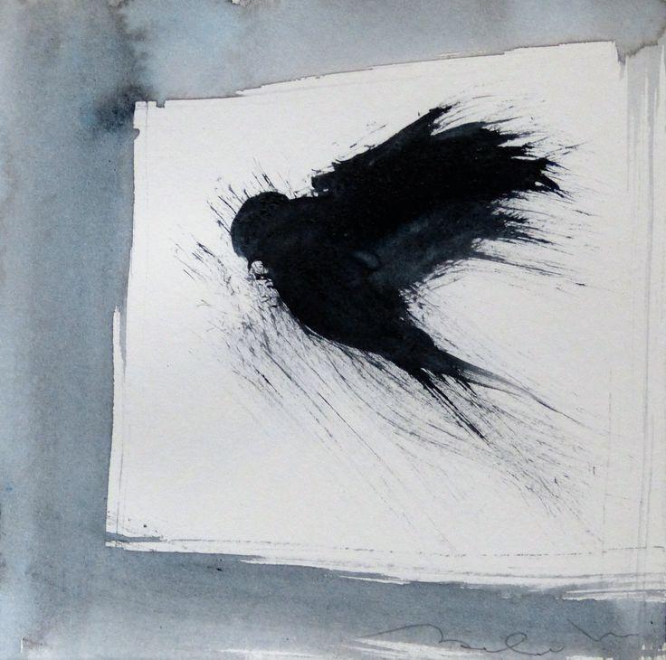 in vendita su Livin'art gli uccelli artistici del poliedrico artista parigino Frederic Belaubre  BIRD 10 acquarello su carta cm 15x15  Little Birds Delicatissimi, raffinati acquarelli monocromo, dall'atelier dell'artista parigino. La leggerezza e l'imprevidibilità del volo di uccello sono pienamente espressi in questa preziosa serie di piccole opere.