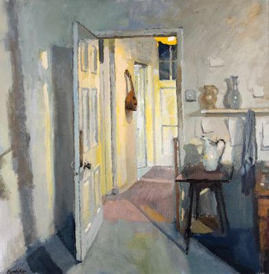 Charles Hardaker This shows a wide open door that leads to anough closed door in the first room there is a jug on a stalll