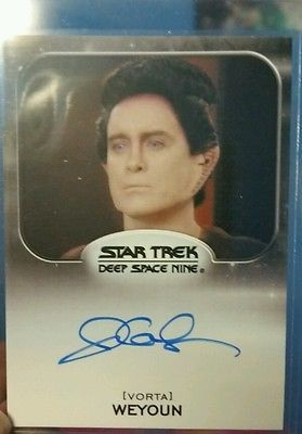 Jeffrey Combs signed Star Trek Card Vorta Weyoun popular movie tv star