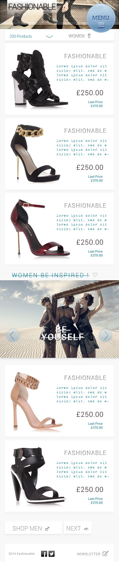 Fashionable Mobile Online Store