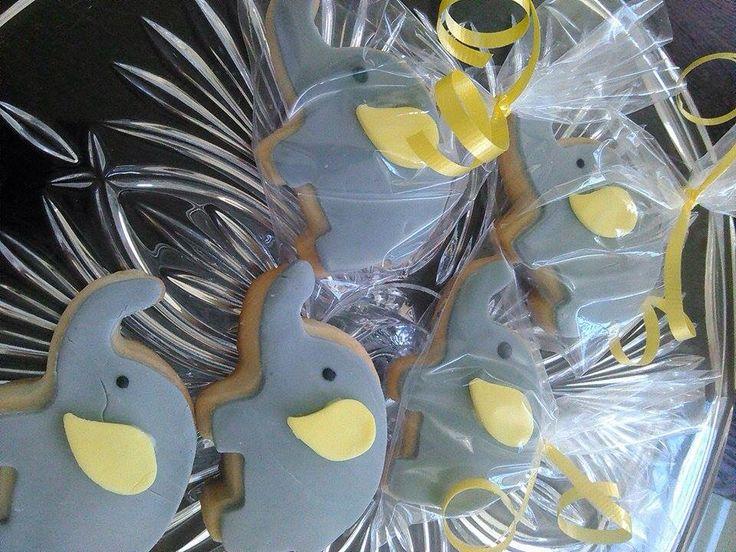 Galletas de elefante baby shower