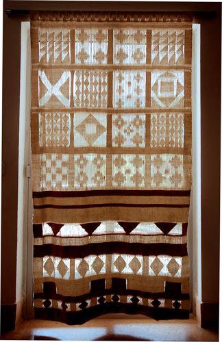 .: Krishna Amin-Patel, Screen, handwoven cotton, 72 x 48 in. :.