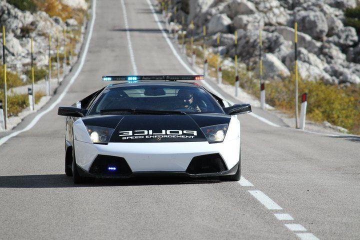 Lamborghini Murcielago LP640 Police Car Front Need For Speed