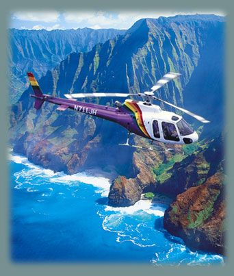 Helicopter tour of Kauai on Jack Harter tours. I suggest the Hughes800 - doors off tour!
