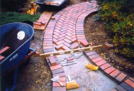 Brick Pathway Ideas | Walkways and Patios Pool Surrounds Driveways Garden Sitting Areas