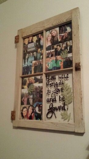 Do it yourself picture frame ideas vintage postcard gallery diy cool window frame collage window pane collage frame diy with do it yourself picture frame ideas solutioingenieria Gallery