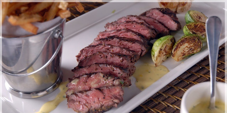 Hanger Steak and Garlic Frites -- Best Selling Dish at cafe b