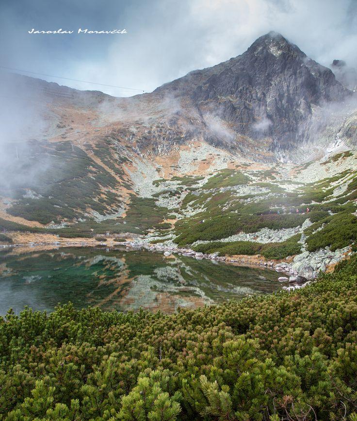 Lake Skalnate pleso in High Tatras mountains, Slovakia