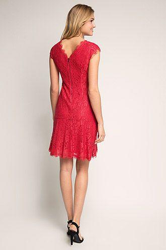 Esprit - Edles Etui-Kleid aus Spitze im Online Shop kaufen