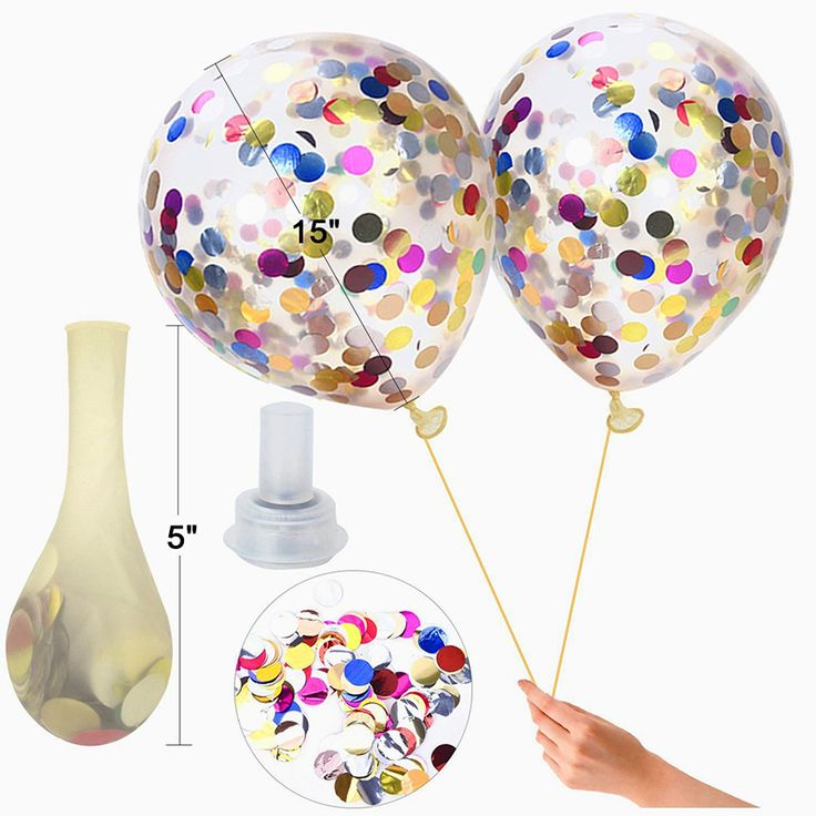 Christmas Decorations Filled with Glitter Confetti Balloons