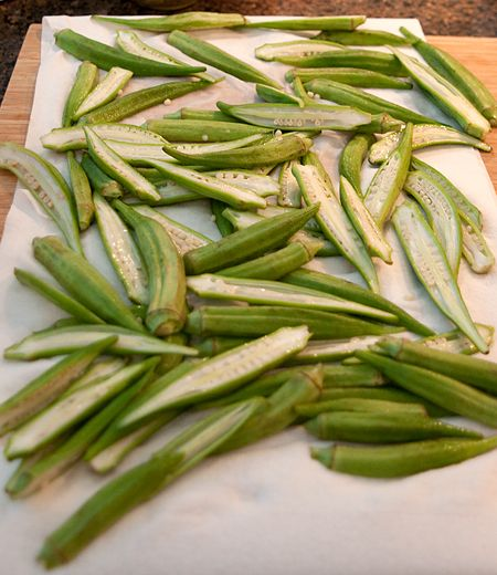 how to make fresh fried okra