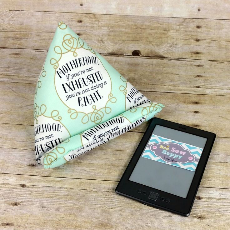 Mother's Funny iPad Stand ~ Kindle Stand ~ Tablet Holder ~ Girly Tech Gift for Mom ~ Kindle Pillow ~ Tablet Cushion ~ Mint Desk Accessories