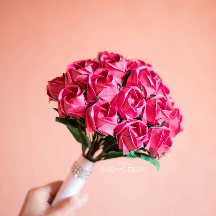 海外で流行中*紙で作る美しいお花『折り紙ブーケ』って知ってる?? | marry[マリー]