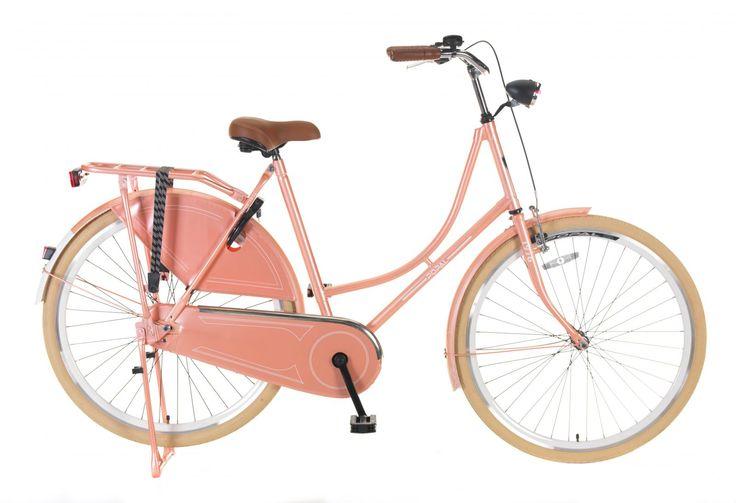 bicicleta Omafiets 28 salmón. bicicleta holandesa