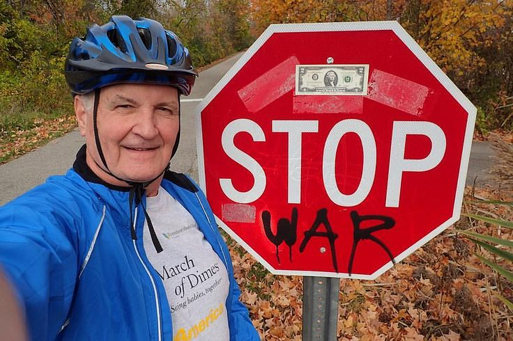 https://flic.kr/p/MJssM6 | STOP WAR | Tom says STOP WAR - Just joking.... old Thomas Jefferson, as president,  was fighting the Barbary Coast pirates and the Muslim leaders of the countries, even way back then Macomb Orchard Trail Washington Twp., Michigan   #railtotrails #stopsign #twoey #twodollars #thomasjefferson #macomborchardtrail #duece #bicycle