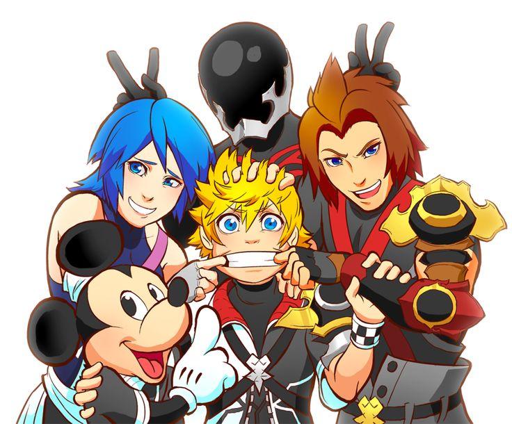 Kingdom Hearts | Square Enix | Disney Interactive Studios / Kingdom Hearts: Birth by Sleep / Ventus, Aqua, Tetra, Mickey, and Vanitas / KHBBS NA RELEASE DATE PARTAY by rasenth on DeviantArt
