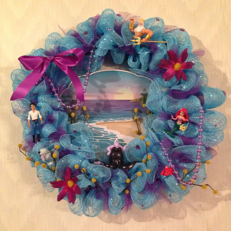 Little Mermaid Wreath Nailed It Pinterest Mermaids