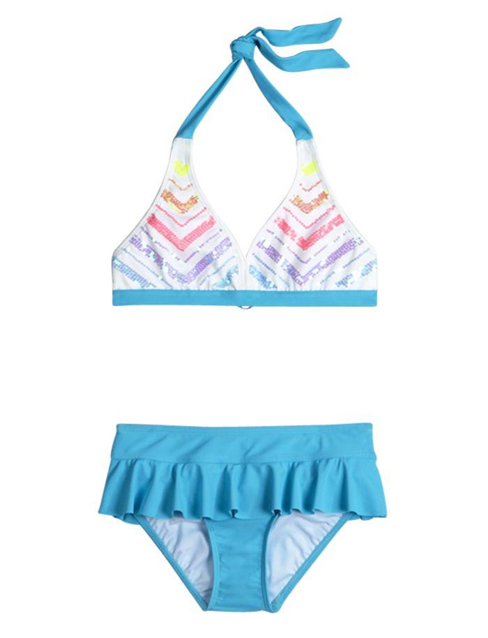 Embellished Stripe Bikini Swimsuit | Bikinis | Swimsuits | Shop Justice
