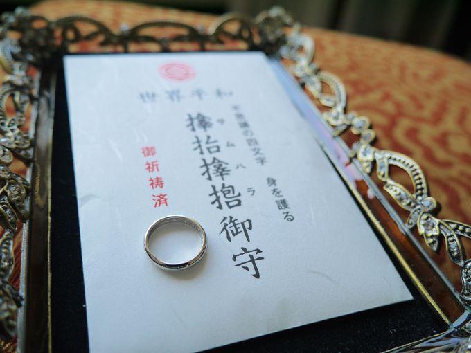 """大阪サムハラ神社のお守り指輪サムハラは、無傷無病・延命長寿の神。""""サムハラ""""の神字四字で身を守るといわれています。 サムハラ神社で入手困難になっているのが御神環(指輪形肌守)"""