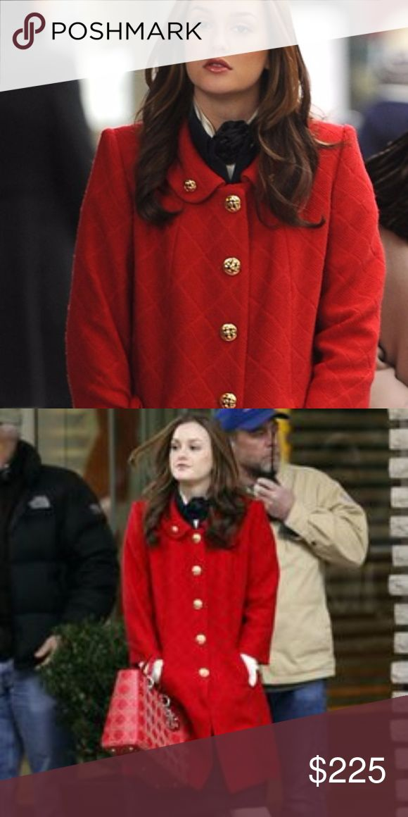 Red Milly Coat 0 Blair Waldorf Gossip Girl