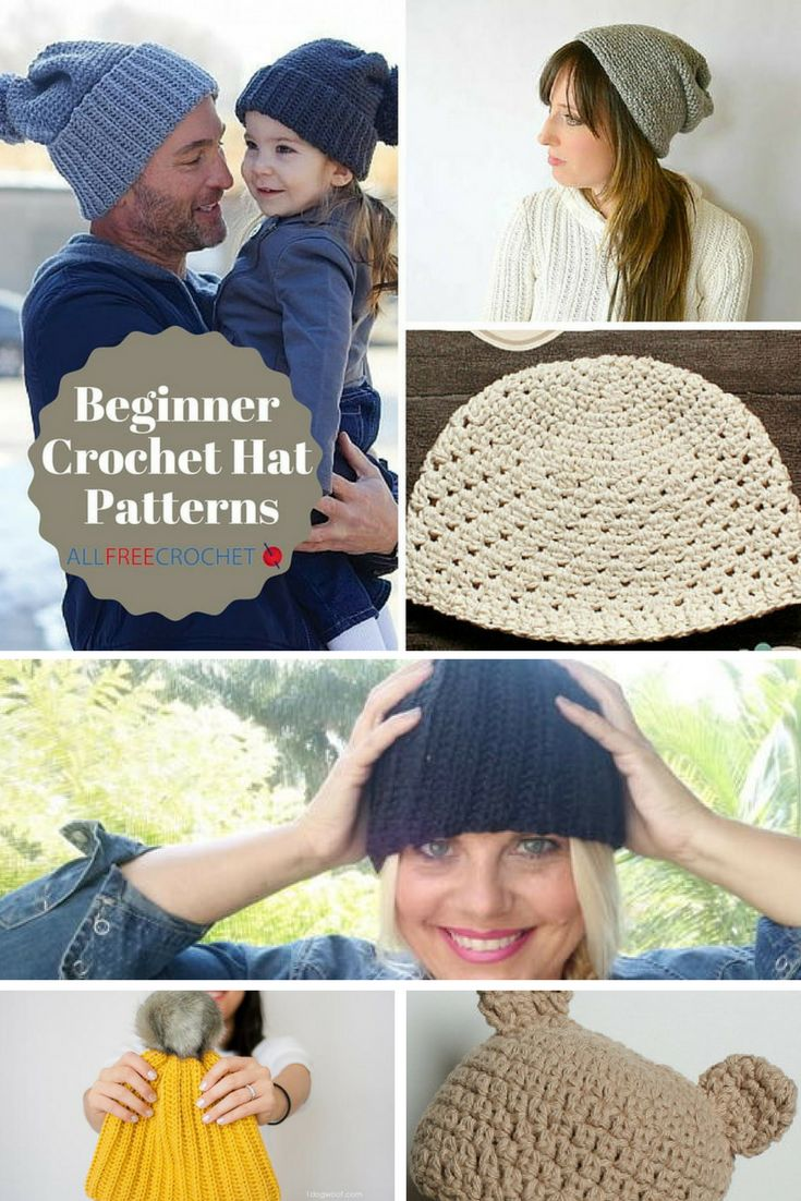 1602 best crochet hat patterns images on pinterest crocheted 50 beginner crochet hat patterns bankloansurffo Image collections