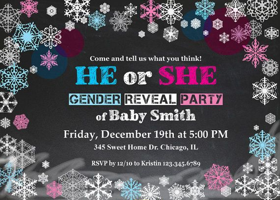 9 best images about winter gender reveal party on pinterest | baby, Baby shower invitations