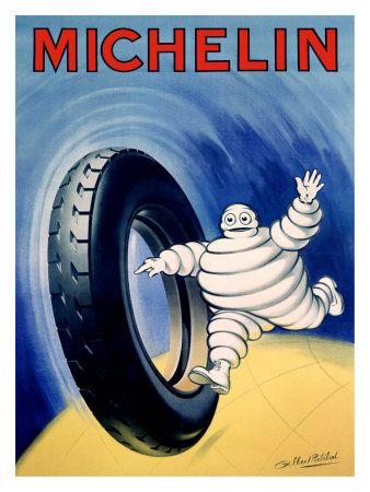 Bibendum Michelin Tire Man Giclee Art Print