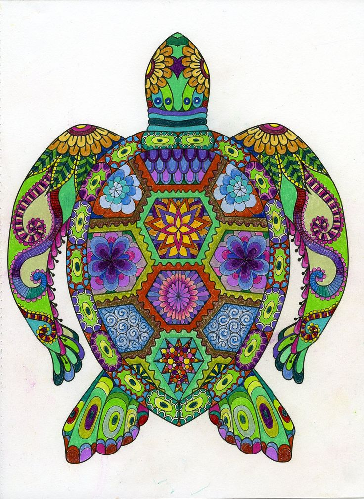 From Art of Coloring Animals - Turtle
