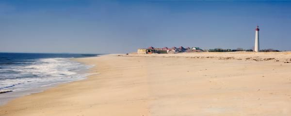 Cape May Beach Panorama New Jersey by George Oze - Cape May Beach Panorama New Jersey Photograph - Cape May Beach Panorama New Jersey Fine Art Prints and Posters for Sale