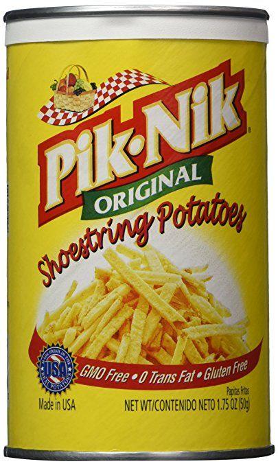 Pik-nik Shoestring Potatoes Original Flavor Pack of Four 1.75 Oz Per Pack