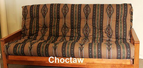 Memory Foam Futon Mattress Southwestern Upholstery Fabric Factory Direct F/Q (Queen, Choctaw)