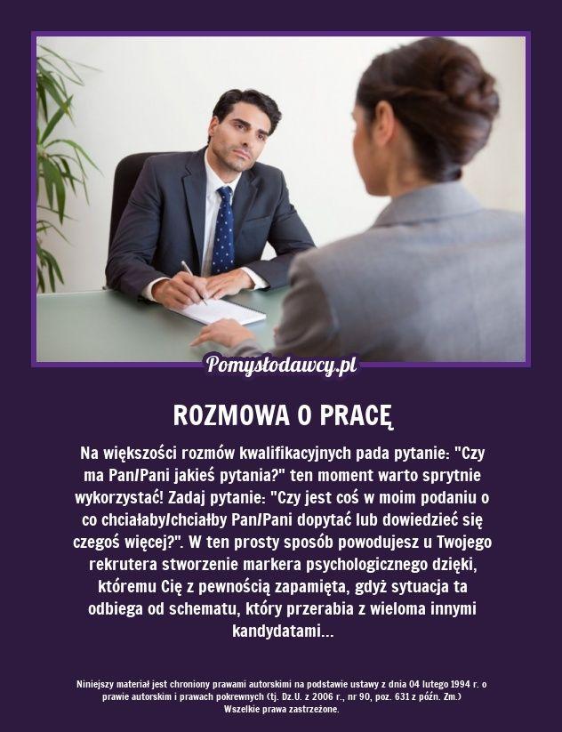 PROSTY TRIK PSYCHOLOGICZNY, KTÓRY PRZYDA CI SIĘ PODCZAS ROZMOWY O PRACĘ!