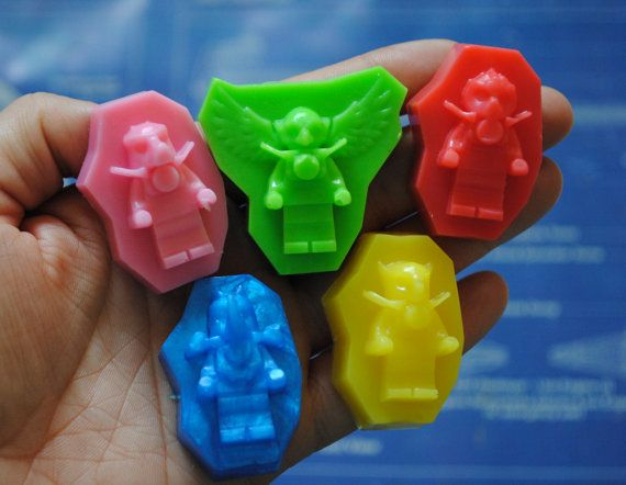 6 Minifigure Soap  Party favor kid soap nerdy soap by NerdySoap