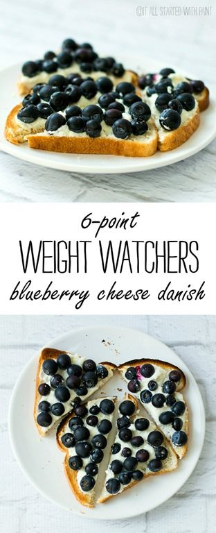 Weight Watcher Recipes: 6 Point Blueberry Cheese Danish Recipe for Breakfast