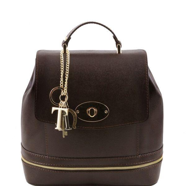 TL KEYLUCK - Saffiano leather convertible bag