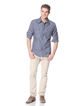 Dorsia Men's Logan Long Sleeve Button-Up Shirt