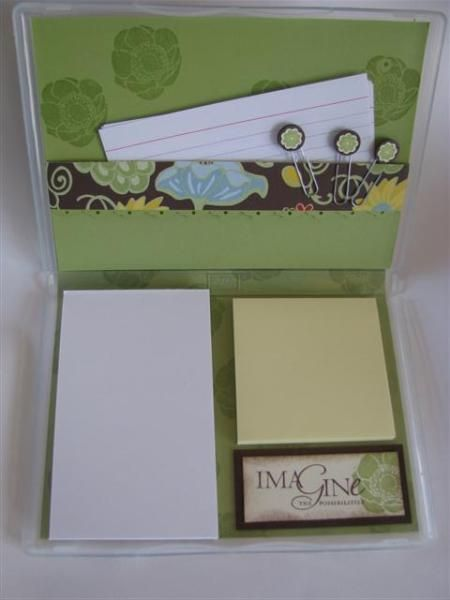 Clear Mount Stamp Case Notepad Holder - Inside - Stampin' Connection